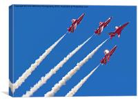 The Red Arrows RIAT 2015 8, Canvas Print