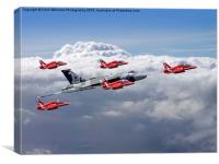 Final Vulcan flight with the red arrows 3, Canvas Print