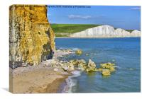 Seven Sisters and Hope Gap, Canvas Print