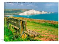 Bench and Seven Sisters, Canvas Print