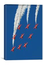 The Red Arrows RIAT 2015 12, Canvas Print