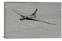 Vulcan XH558 from Beachy Head 2, Canvas Print