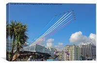 Red Arrows Eastbourne 2, Canvas Print