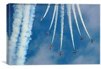 Red Arrows Eastbourne 3, Canvas Print