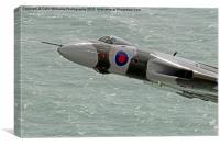 Vulcan XH558 from Beachy Head 7, Canvas Print