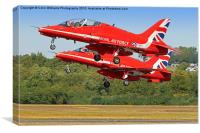 The Red Arrows RIAT 2015 17, Canvas Print