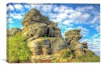 Brimham Rocks North Yorkshire 6, Canvas Print