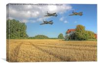 Hurricane And Spitfire 3, Canvas Print