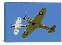 Hurricane And Spitfire 4, Canvas Print