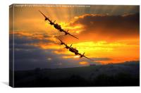 The Two Lancasters at Sunset 1, Canvas Print