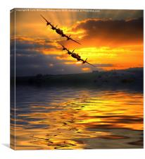The Two Lancasters at Sunset 2, Canvas Print
