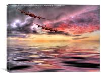 Out Of The Sunset - The 2 Lancasters 3, Canvas Print