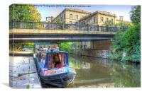 Salts Mill and The Canal, Canvas Print