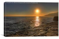 Sunset From the Cobb Lyme Regis, Canvas Print