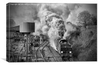The Train Departing., Canvas Print