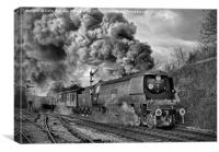 West Country Class Wadebridge Departs BW, Canvas Print