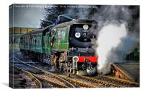 West Country Class Wadebridge Waiting to Depart, Canvas Print
