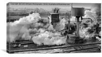 41312 Raises Steam 2 BW, Canvas Print