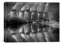 Ferrybridge 2 BW, Canvas Print