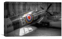 Spitfire MH434 Hangar Duxford 1, Canvas Print
