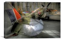 Spitfire MH434 Hangar Duxford 3, Canvas Print