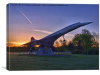 Concorde Sunrise 1, Canvas Print