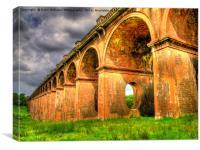 Balcombe Viaduct Pierced Piers 3, Canvas Print