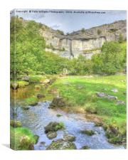 The Cliffs Of Malham Cove 2, Canvas Print