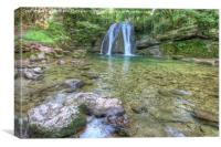 Janets Foss 2 - North  Yorkshire, Canvas Print