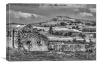 The View to Almscliff Crag Yorkshire, Canvas Print