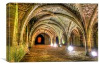 Fountains Abbey Yorkshire Floodlit - 3, Canvas Print