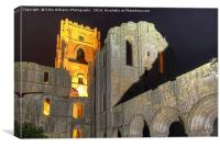 Fountains Abbey Yorkshire Floodlit - 4, Canvas Print