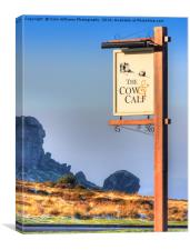 The Cow And Calf  Ilkley, Canvas Print