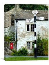 The Village of Malham, Canvas Print