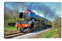 The flying Scotsman on the  KWVR - 1, Canvas Print