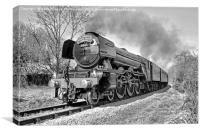 The flying Scotsman on the  KWVR - 1 BW, Canvas Print