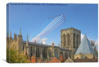 The Red Arrows over York Minster, Canvas Print
