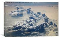 Crossing The Equator at 32000 feet, Canvas Print