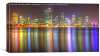 The City Of Perth WA At Night - 3, Canvas Print