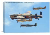 The Battle Of Britain Memorial Flight - RIAT 3, Canvas Print