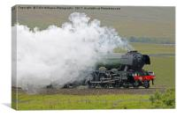 Flying Scotsman At The Ribblehead Viaduct 3, Canvas Print