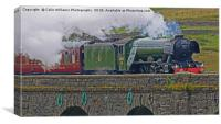 Flying Scotsman At The Ribblehead Viaduct 4, Canvas Print