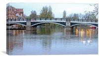 Eton Bridge at Dusk, Canvas Print