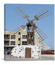Windmill in Coralejo Fuerteventura, Canvas Print