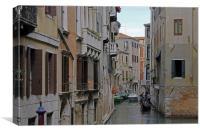 Gondolas on Backstreet Cana, Canvas Print