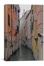 Narrow backstreet canal, Canvas Print