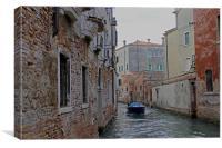 Backstreet canal, Canvas Print