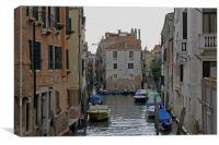 Venetian Side Street, Canvas Print