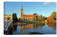 All Saints Church Marlow, Canvas Print