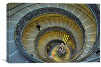 Spiral Staircase in Vatican Museum, Canvas Print
